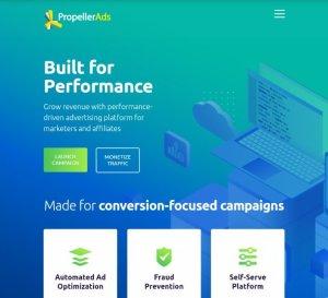 Google Adsense alternatives in Nigeria - propellerads