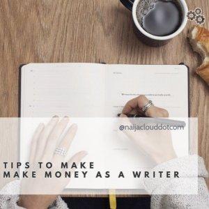 Make money online as a writer