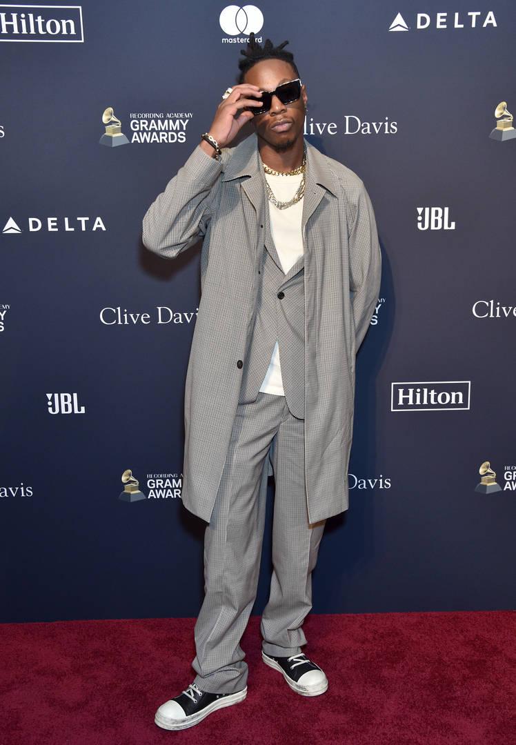 Joey Bada$$ Poses With His Recently Won Oscar