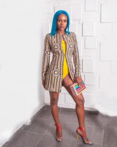 BBNaija housemate, Anto Lecky, caused a stir with her swimwear outfit to a movie premiere.