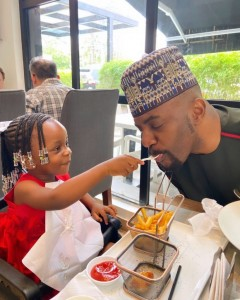 Ebuka Obi's Daughter Feeding Him Ice Cream, Breaks The Internet With New Picture