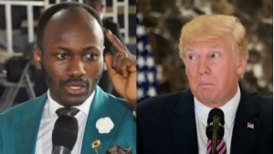 Nigerian cleric, Apostle Johnson Suleman has revealed that he is praying hard for US president, Trump.