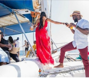 Khafi of BBNaija 2019 edition is having the best time of her life after her recent engagement to Gedoni. Big Brother Naija star, Khafi has shared a new photo of herself and her former housemate-turned-fiance Gedoni.