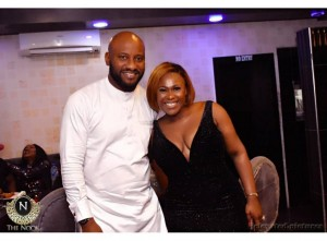 Star actress, Uche Jombo had her 40th birthday party over the weekend and it was a star studded party, from the pool party to the main party. Some A-List celebrities that stormed Uche Jombo's b