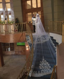 Nigerian actress, Chizzy Alichi is a happy woman after getting married to the man of her dreams. Nollywood screen darling, Chizzy Alichi has shared photographs of herself decked glamorously in a white long-tailed wedding gown.