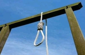 Image indicating death by hanging