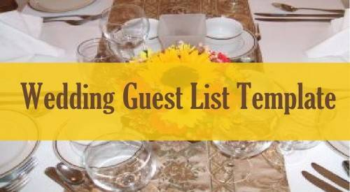 img guest list template for wedding