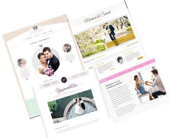 wedding site as invitation cards