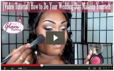 bride doing her own wedding makeup