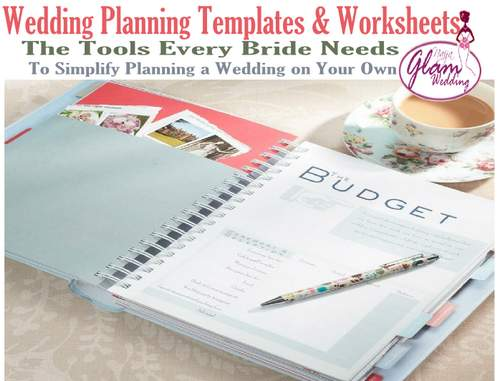 wedding planning templates worksheets