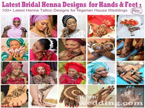 images of hausa brides with henna body art designs on their hands feet