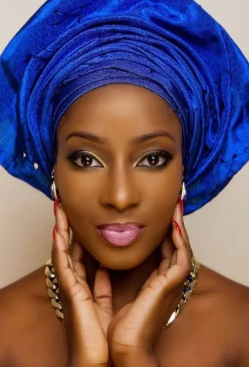 photo of bride in a professionally done makeup for traditional wedding