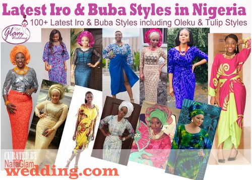 picture of women wearing different styles of iro and buba