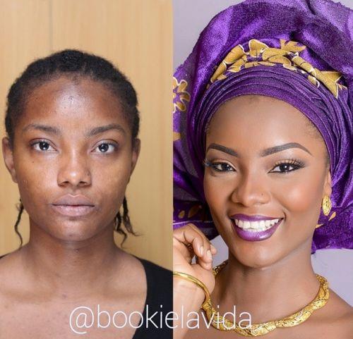 bride in purple bridal makeup by bookie lavida