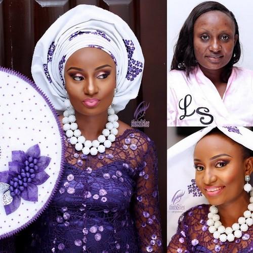 nigerian makeup and after