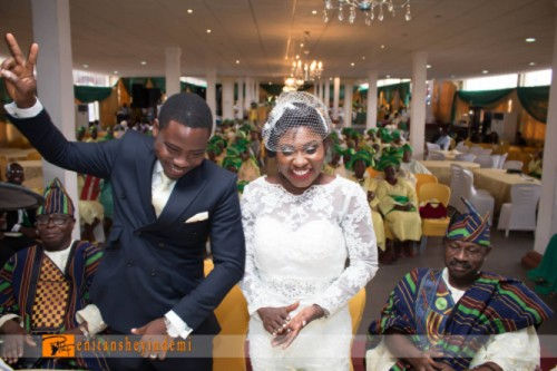 picture of happy couple at lagos court wedding