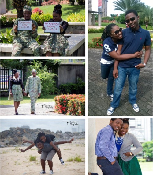 picture of nigerian couple in engagement shoots eshoot