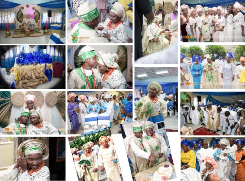 pictures showing yoruba traditional wedding process