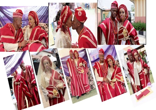 pictures yoruba traditional wedding red white attire