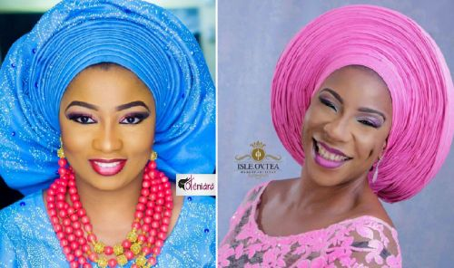 photo showing inifinity pleats gele vs normal pleated gele style