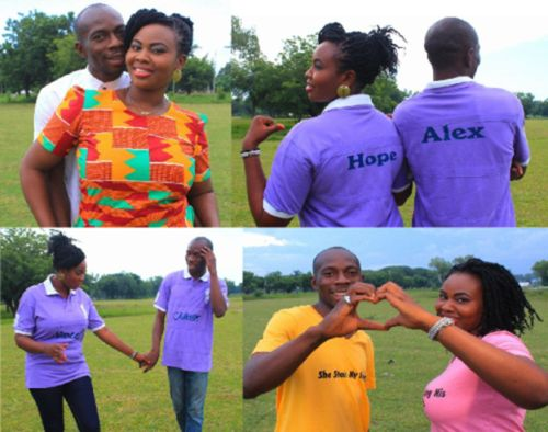 image: pre-wedding engagement pictures from Nigerian couple