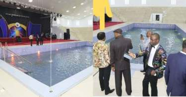 Abuja Pastor allegedly built swimming pool with healing powers in church (Photo)