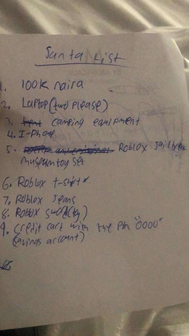 100k, two laptops... Akin Alabi shares his 9-year-old son's Christmas list (Photo)
