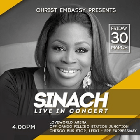 Sinach Storms Lekki For Live Concert