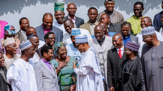 President Buhari with the Northern CAN Leaders