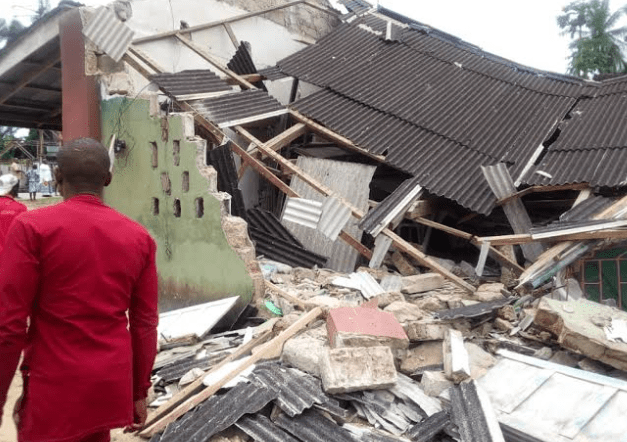 Collapsed church in Delta State
