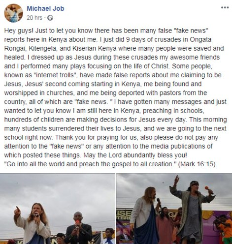 jesus in kenya arrested