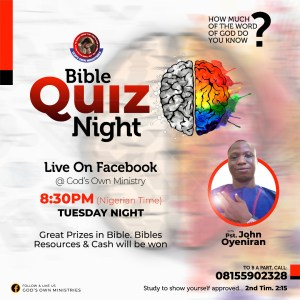 oyediran john bible quiz