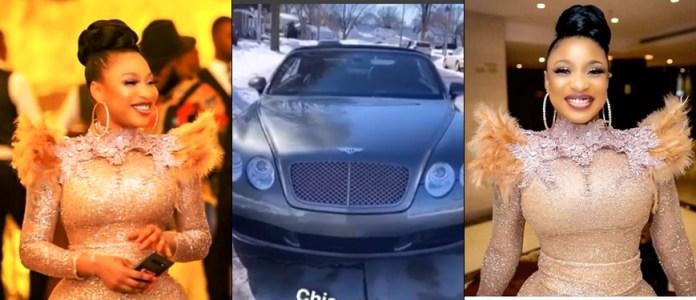 Tonto Dikeh Flaunts Her New Bentley