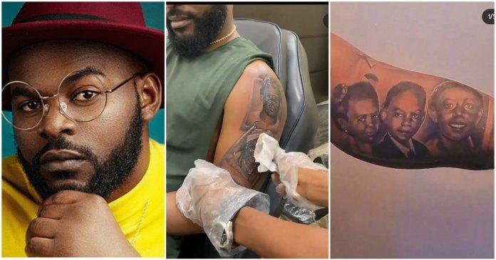 falz tattoo of hs parent and his sister Naijahotstars
