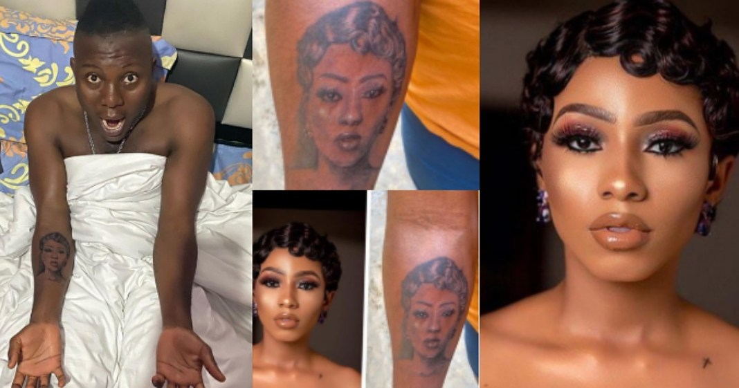 Mercy Eke replies man who drew a tattoo of her face on his body