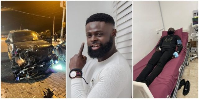 """""""Thank God for your life"""" – Celebrities react to photos of comedian AY's brother, Yomi Casual on a hospital bed after a car accident"""