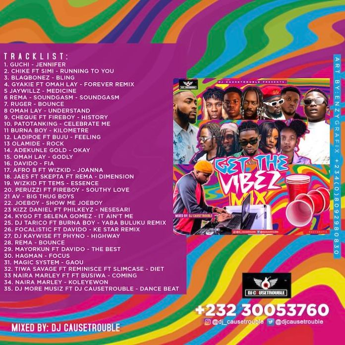 DJ Causetrouble – Get The Vibes Mix tracklist