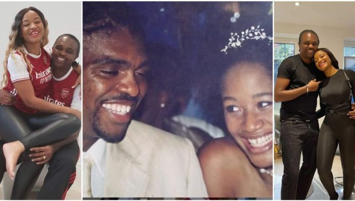 Footballer, Kanu Nwankwo and his wife, Amara Kanu celebrate their 17th wedding anniversary