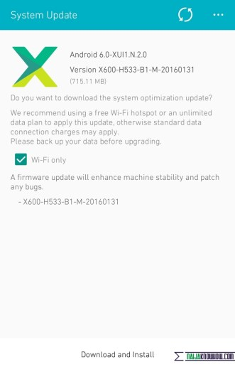 infinix Note 2 Marshmallow Updates