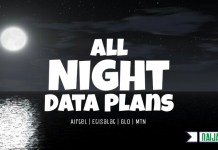 MTN, GLO, Airtel & 9mobile Night Data Plans in Nigeria and subscription codes