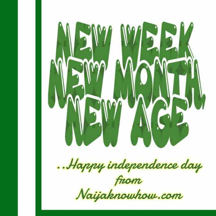 Happy independence day in Nigeria