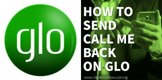 How to send call me back on glo
