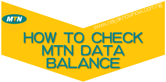 How To Check MTN Data Balance on Android, Blackberry, iPhone etc