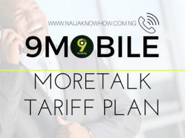 9MOBILE MORETALK TARIFF PLAN