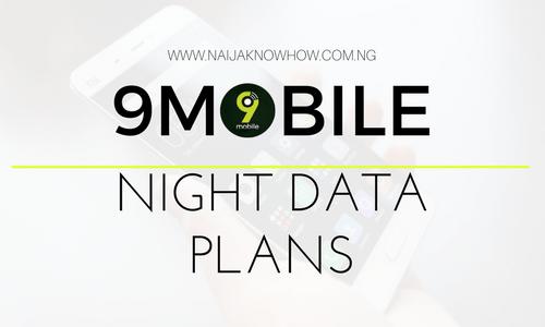9MOBILE NIGHT DATA PLANS