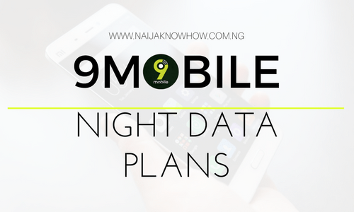 9MOBILE NIGHT DATA PLANS