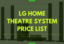 LG HOME THEATRE SYSTEM AND PRICE IN NIGERIA