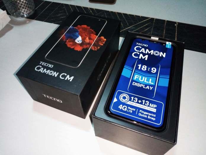 TECNO Camon CM Unboxing