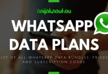 LIST OF ALL WHATSAPP DATA PLANS