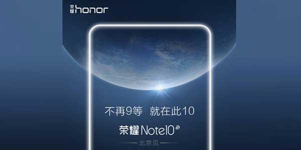 Honor Note 10 Leak